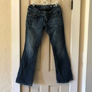 Size 27 Miss Me jeans with rhinestone pockets